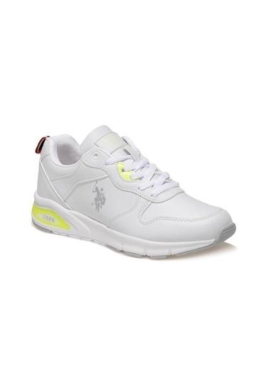 U.S. Polo Assn. Voya Wmn 1Fx Kadın Sneaker Beyaz